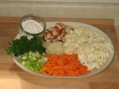Diet Cauliflower Soup Ingredients