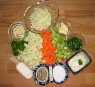 Diet Kohlrabi Soup Ingredients