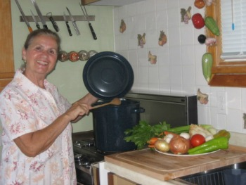 My Mom Cooking Soup