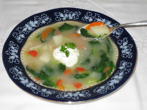 Potato Spinach Soup