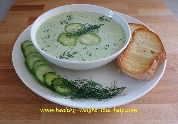 Diet Cucumber Soup Recipe