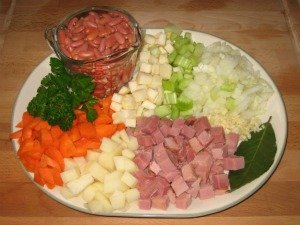 Ham and Bean Soup Ingredients