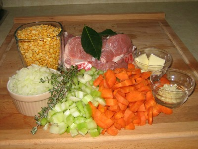 Yellow Split Pea Soup Ingredients